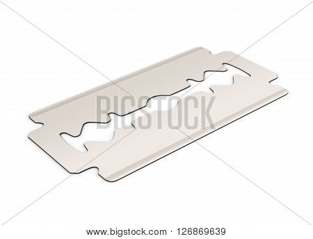 Blade for razor isolated on white background. 3d rendering.