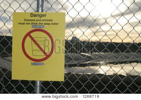Danger Warning Sign In English