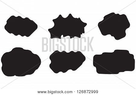 Black white set cloud. Cloudscape rain and cloud smoke server cloud upload and meteorology cloud. Vector flat design illustration