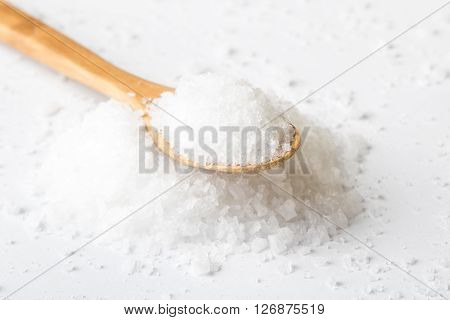 Sea Salt On White Table