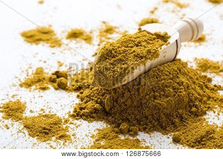 Curry Spice On White Table