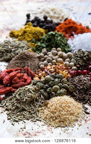 Abundance Of Color Spices
