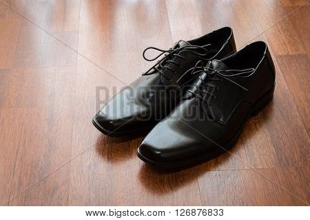 Black Shoes On The Floor