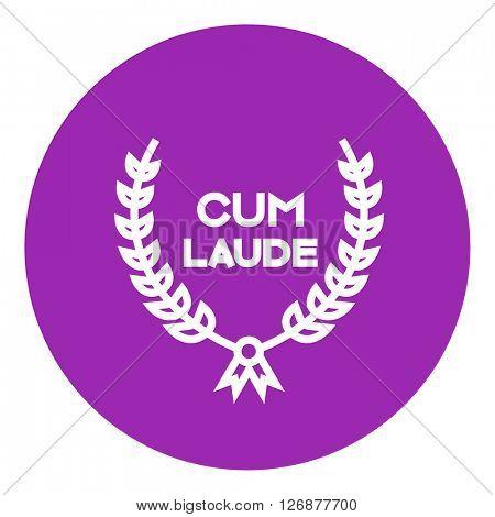 Laurel wreath line icon.