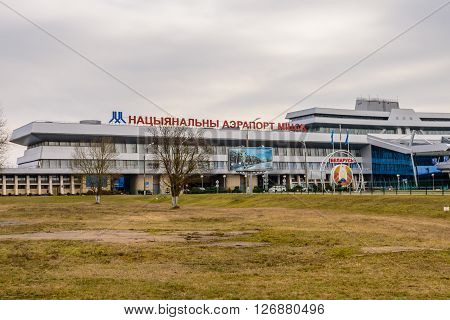 MINSK, BELARUS - March 8: the national airport Minsk in March 8, 2016, in Minsk, Belarus.