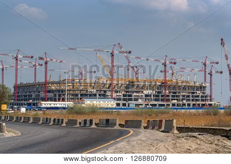 Construction of stadium in Rostov-on-Don Russia for World Football Championship in 2018