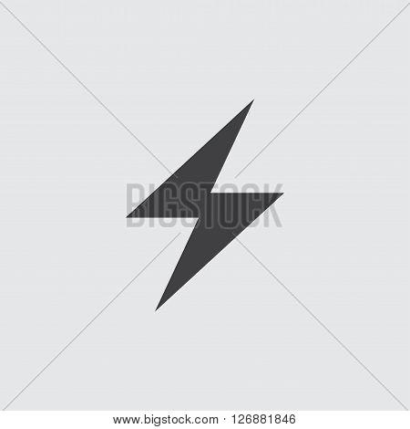 Thunder icon, isolated on white background illustration