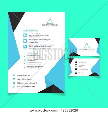 visiting card and poster design 100%vector can re editable and re sizable all