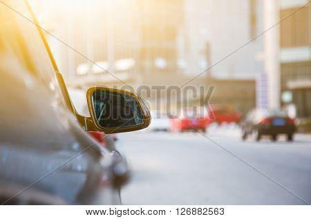 car on the city road,shanghai china.
