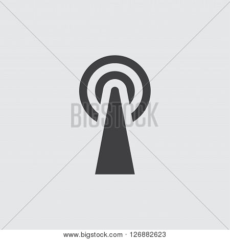 Broadcast icon, isolated on white background illustration