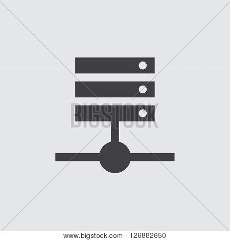 Hosting icon, isolated on white background illustration