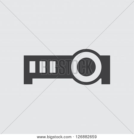 Projector icon, isolated on white background illustration