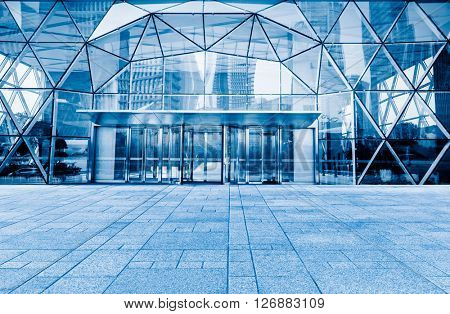 corporate building entrance