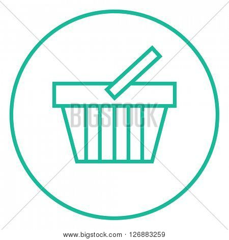 Shopping basket line icon.