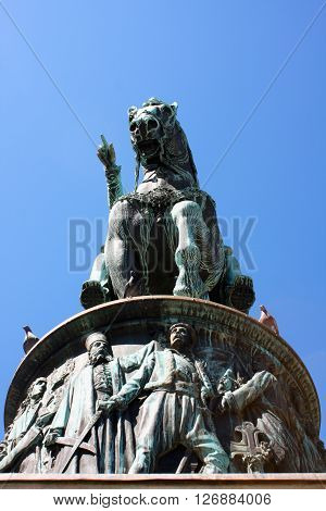 The nation defends King monument in Belgrade Serbia