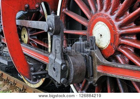 part of  the vintage active steam locomotive