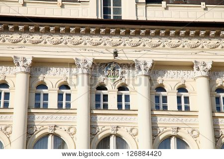 neo-classical architecture of City Hall in Novi Sad Serbia