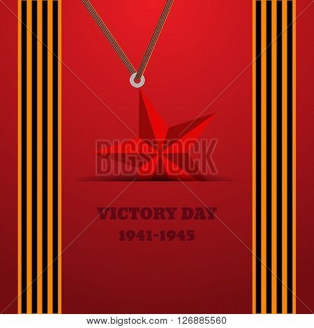 Victory Day With Ribbon Vector Illustration Eps 10 Background