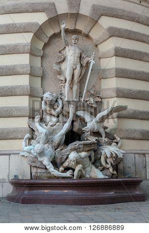 Neptun at sea fountain in Vienna, Austria