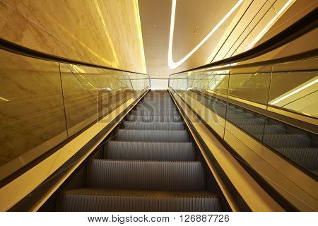 Office Building  Interior Escalators And Stairs