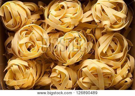 Fettuccine Pasta Italian Food Still Life Close Up Macro