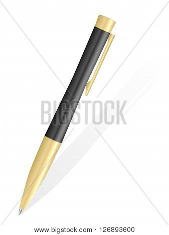 Ballpoint pen a on white background. Vector illustration.