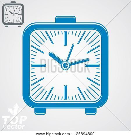 Vector elegant table clock simple version included. Time theme web design element.