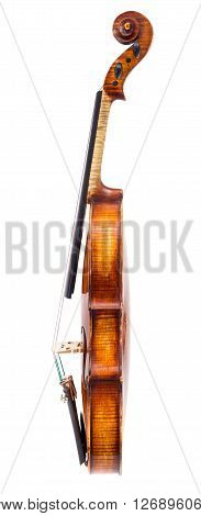 Side View Of A Violin