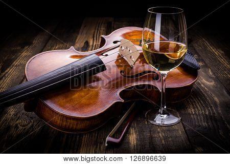 Violin And Wine