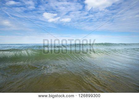 Sea On A Sunny Summer Day On The Strait Of Dover (pas De Calais)