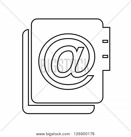 an images of address book icon Illustration design