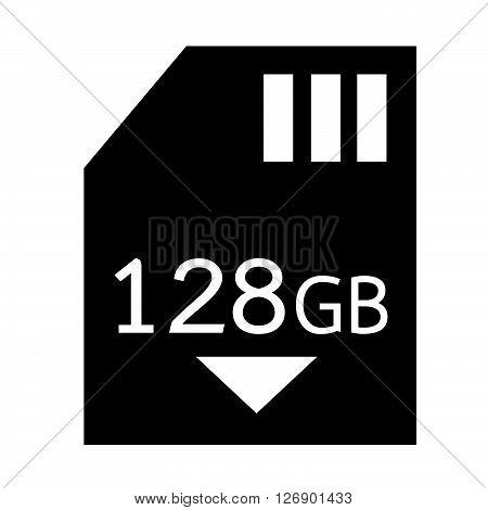 Memory Card 128 Gb icon Illustration design