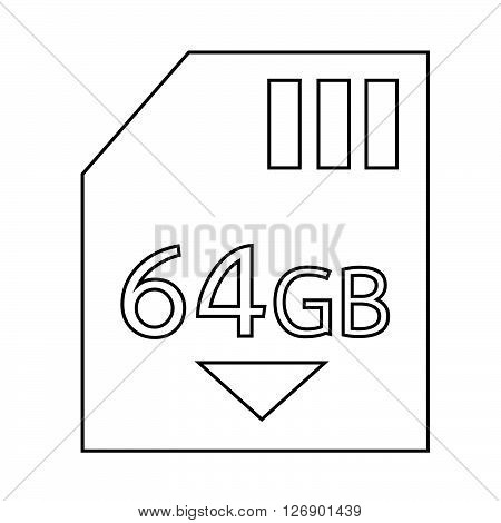 Memory Card 64 Gb icon Illustration design