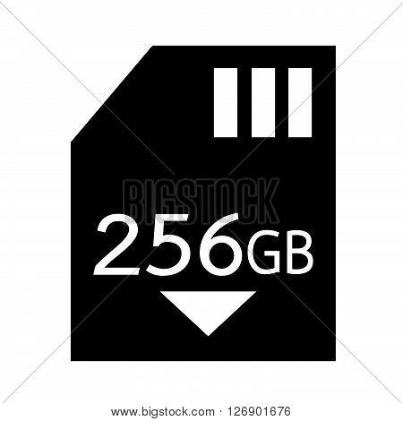 Memory Card 256 Gb icon Illustration design