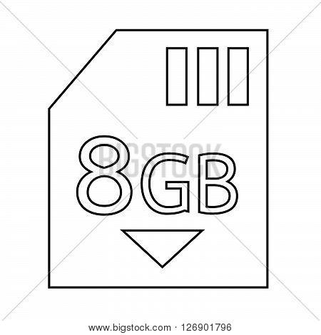 Memory Card 8 Gb icon Illustration design