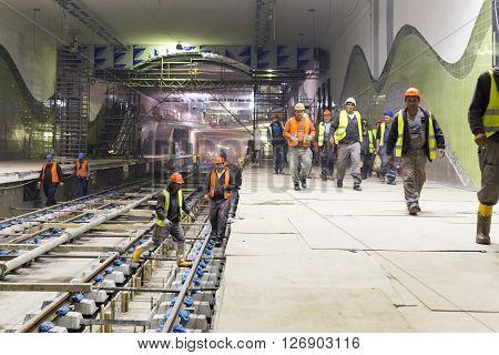 Underground Subway Tunnel Workers