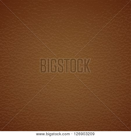 Leather texture on brown. Vector eps10 illustration