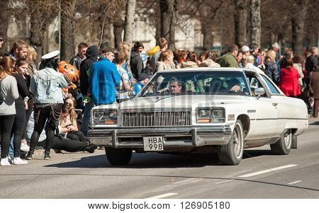 NORRKOPING, SWEDEN - MAY 1: Buick Electra Landau 1976 at classic car parade celebrates spring on May 1, 2013 in Norrkoping, Sweden. This parade is an annual tradition in Norrkoping on May Day.