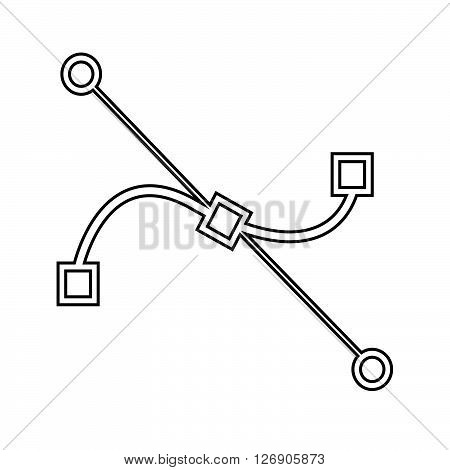an images of Bezier curve tool icon Illustration design