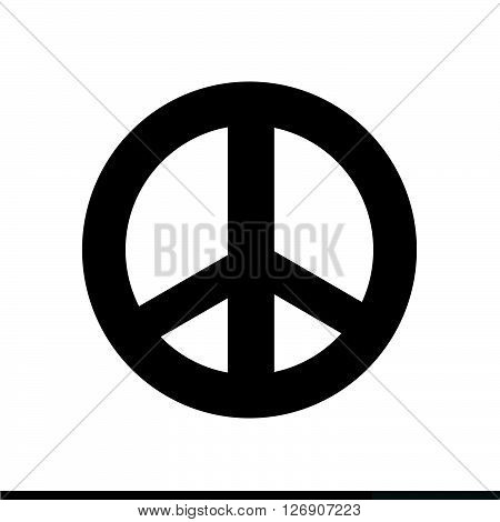an images of Peace symbol icon Illustration design