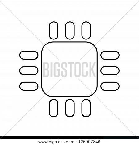 an images of Computer CPU icon Illustration design