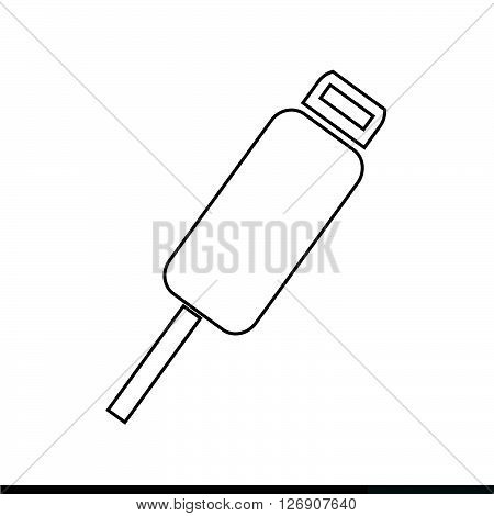 an images of USB Plug Icon Illustration design