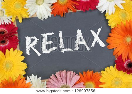 Relax Relaxing Garden With Colorful Flowers Flower Board