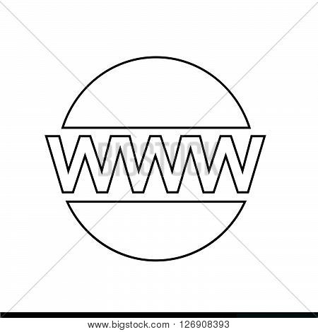 World wide web symbol icon Illustration design