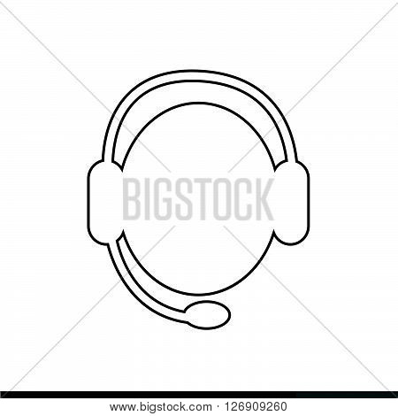 an images of call center operator icon Illustration design