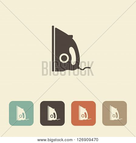 Symbol clothing care. Vector illustration of iron