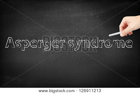 Asperger written on a blackboard