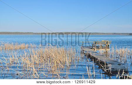 idyllic Landscape in Masuria near Mikolajki in Poland,eastern Europe