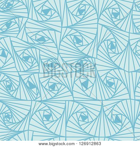 Seamless abstract vector background of volumetric spiral, waves, helical texture