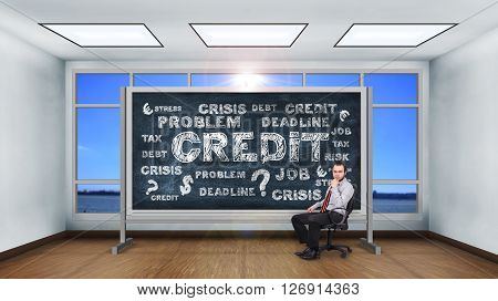 Drawing Credit Concept.